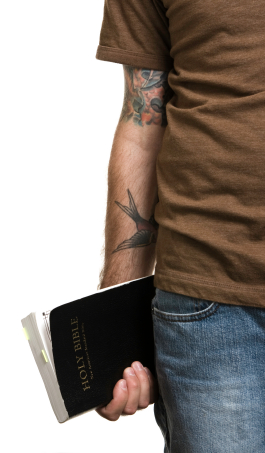 Young Adult holding Bible
